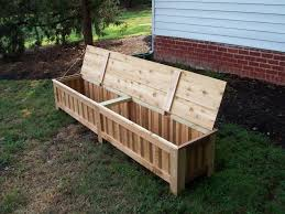 wood bench with storage treenovation within outdoor wooden