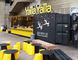 colorful shipping container restaurants pop up in southbank during