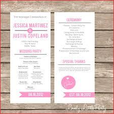 wedding program ideas wedding ideas awesome one sided wedding program template image