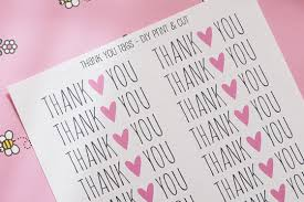 free printable tags and thank you card cookie jar