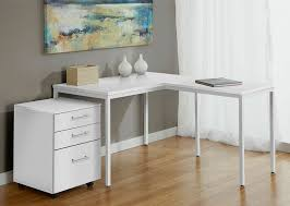 White L Shaped Desks Awesome Modern White L Shaped Corner Parson S Desk With Mobile