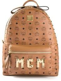 mcm designer mcm monogram print backpack accesories monograms