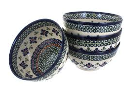 blue rose polish pottery dinnerware