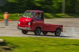 subaru sambar truck vintage subaru 360 drive inauspicious roots motor trend
