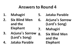 3 Blind Men And The Elephant Traditional India Review Quizzo Game Round 1 Gods U0026 Goddesses