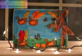 fall diorama still school