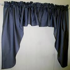 Blue Valance Curtains Navy Blue Swag Window Valance Set