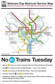 Dc Metro Bus Map by Update The Washington Dc Metro Veterans Day Map Transit Maps