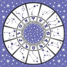 zodiac sign and constellations horoscope circle black and white