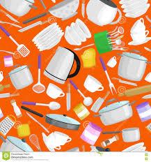 kitchenware vector pattern cartoon kitchen utensil collection