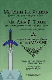 printable legend of zelda wedding invitations both of us are