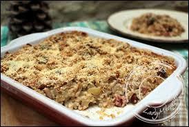 cuisiner les crozets de savoie gratin de crozets aux chignons et à la saucisse de montbéliard