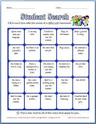 classmate search ten back to school activities to welcome your class and the