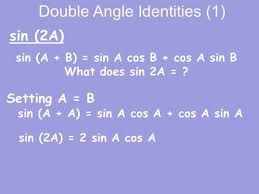 bilborough college maths core 4 double angle formulae adrian