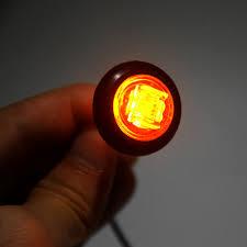 10 pcs 0 75 inch 10 30v led side marker lights clearance light for