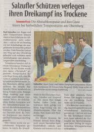 Lippische Landeszeitung Bad Salzuflen Medien Schützen Bad Salzuflen