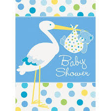 stork baby shower blue stork baby shower invitations 8pk walmart