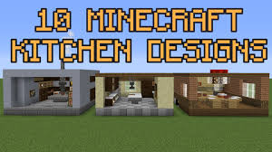 kitchen design games 10 minecraft kitchen designs youtube