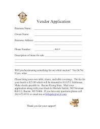 Vendor Information Sheet Template Vendor Application Form Template