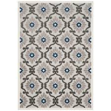 Royal Blue Outdoor Rug Safavieh Cottage Indoor Outdoor Gray Royal 6 Ft 7 In X 9 Ft 6