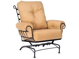 Woodard Belden Padded Sling Aluminum Woodard Terrace Cushion Wrought Iron Spring Lounge Chair 790065