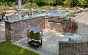 patio ideas with pavers great view with large swimming pool close wide paving floor and