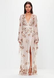 embellished dress peace kimono sleeve embellished maxi dress missguided