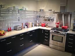 modern kitchen with ms international fantasy brown marble flush modern kitchen with designer white solid surface countertop corian
