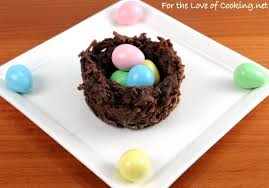 coconut easter eggs coconut and chocolate nests for the of cooking