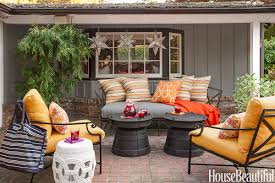 Outdoor Deck Furniture by 20 Fall Outdoor Decorating Ideas Best Autumn Decor For Outdoor Rooms