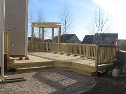 Deck And Patio Ideas For Small Backyards by Paver Patio With Deck Wide Steps Amys Office