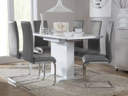 High Gloss Extending Dining Table Furniture White Dining Room Table And Chairs Beautiful Osaka