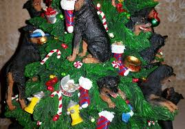 danbury mint rottweiler christmas tree out of production working