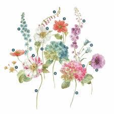 roommates 5 in x 19 in lisa audit garden flowers 25 piece peel roommates 5 in x 19 in lisa audit garden flowers 25 piece peel