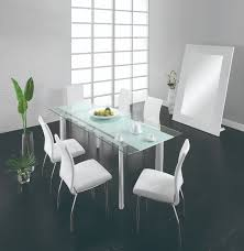 chemistry dining room set table 4 chairs white by creative