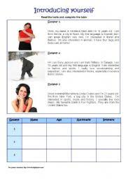 english teaching worksheets introducing yourself