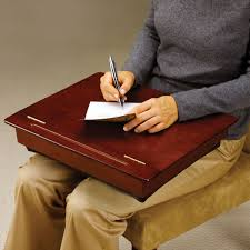 portable lap desk with storage the wooden storage lap desk hammacher schlemmer