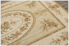pastel gold ivory aubusson rug pink rose country french style