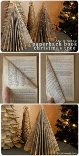 how to make a paperback tree easy crafts