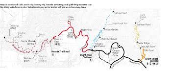 Map Grand Canyon Grand Canyon Excursion