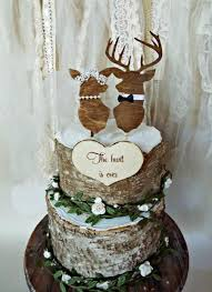 buck and doe cake topper deer wedding buck and doe wedding cake topper deer lover and