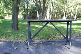 diy welding table plans diy truss console table plans rogue engineer
