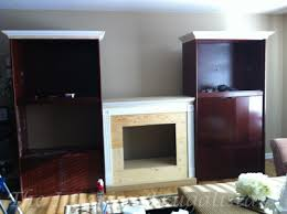 Custom Electric Fireplace by 80 U0027s Wall Unit Hack How We Transformed It Into Built Ins The