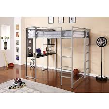 dhp abode full metal loft bed over workstation desk multiple