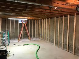 basement wall spray foam insulation in stevens point wi oakwood