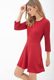 fit and flare dress forever 21 forever 21 crepe fit flare dress in lyst