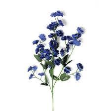 Baby Breath Flowers Royal Blue Baby Breath Flower Stems Silk Wedding Flowers