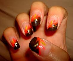 picture 4 of 10 easy thanksgiving nail designs photo