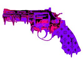 purple pink lava l l gun melt purple death