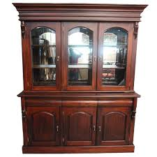 3 Door Display Cabinet Style Solid Mahogany Large Style 3 Door Display Cabinet